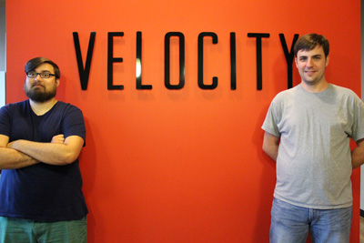 Two Scoop Games Alex and Eric at Velocity IN coworking space